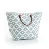 Bolso Le Tote Grande White/Light Blue