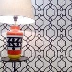 Lámpara de mesa Rayas