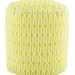 Pouf Links Chartreuse/White 51x51 cms