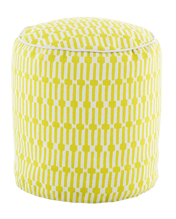 Pouf Links Chartreuse/White 51×51 cms