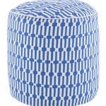 Pouf Links Cobalt/White 51x51 cms