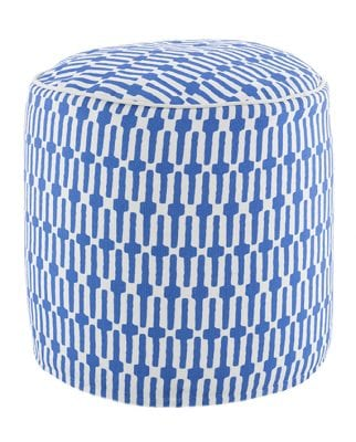 Pouf Links Cobalt/White 51×51 cms
