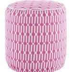 Pouf Links Fuchsia/White 51x51 cms