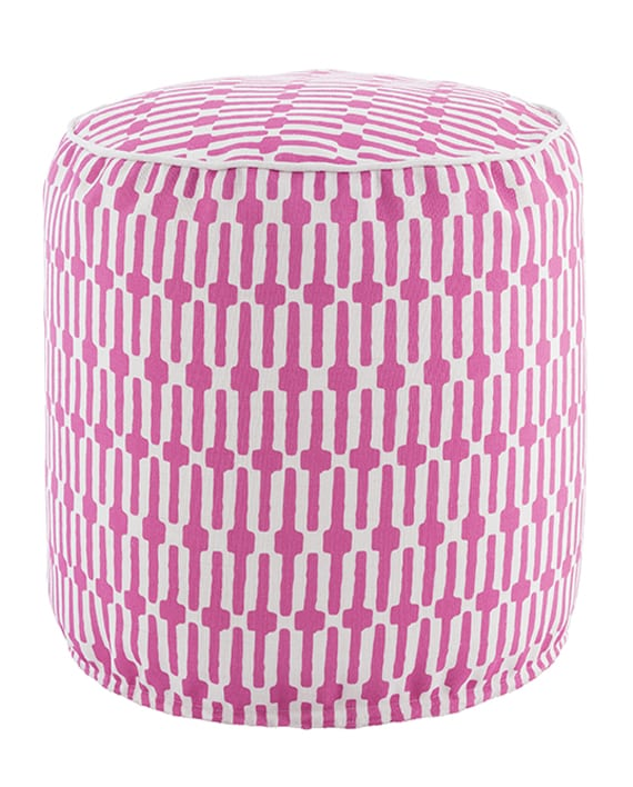 Pouf Links Fuchsia/White 51×51 cms