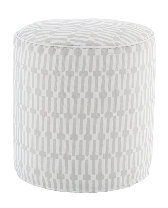 Pouf Links Pearl Grey/White 51×51 cms