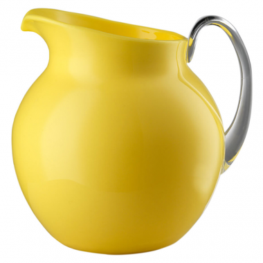 Jarra Palla Amarilla con Asa Transparente