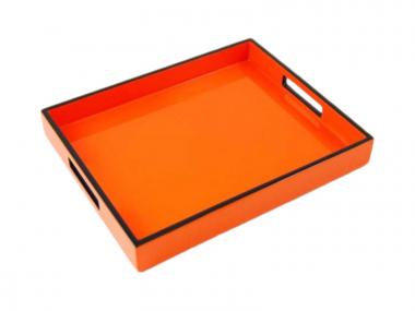 Reiko Bandeja de Laca Naranja/Negro