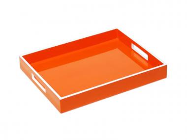 Reiko Bandeja de Laca Naranja/Blanco