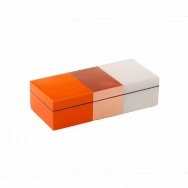 Caja Pencil de Laca Tricolor Cobre