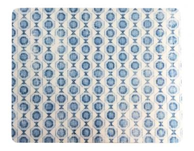 Set de 6 Individuales Lacados Geométrico Azul