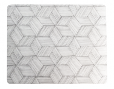 Set de 6 Individuales Lacados Hexágonos Plata