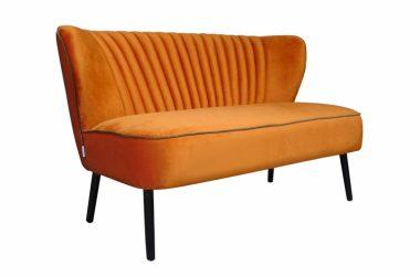 Sofá Twiggy Terciopelo Naranja