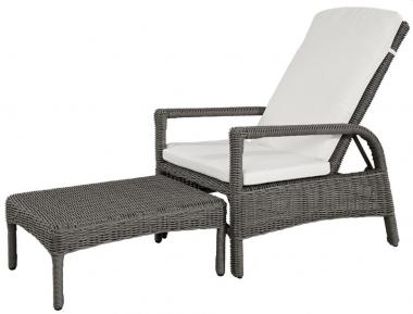 Butaca reclinable con reposapiés extensible Nappa