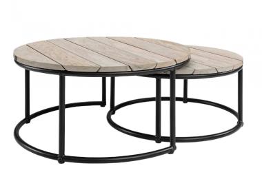 Set de 2 mesas de centro Anton