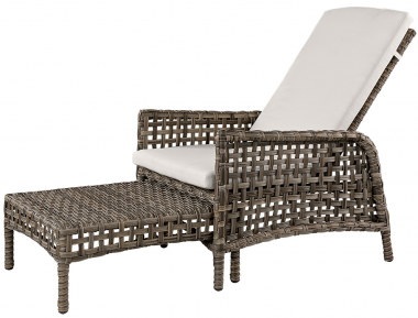Butaca reclinable con reposapiés extensible Classic Grey