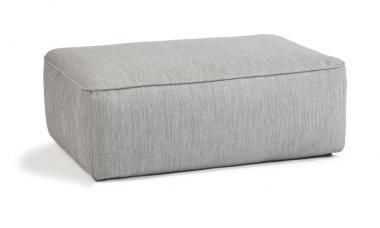 Pouf de exterior desenfundable rectangular