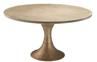 Mesa de comedor redonda Melchior bronce