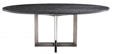 Mesa de comedor ovalada Melchior carbón