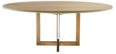 Mesa de comedor ovalada Melchior bronce