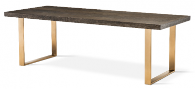 Mesa de comedor rectangular Melchior 230 cm bronce