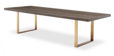 Mesa de comedor rectangular Melchior 300 cm bronce