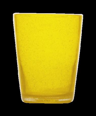 Momento Vaso Bajo de vidrio Amarillo