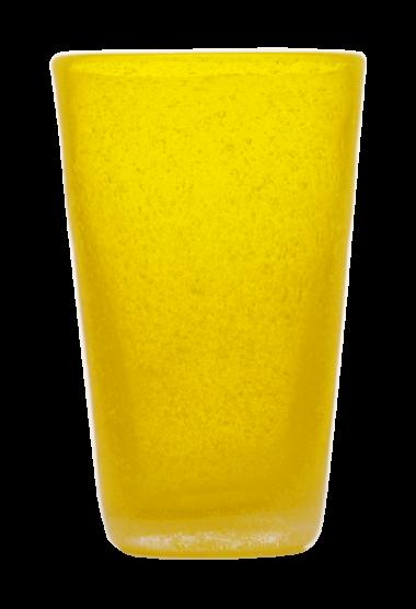 Momento Vaso Alto de vidrio Amarillo