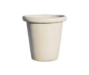 Lond Macetero Esmaltado Blanco en diferentes tamaños