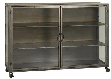 Cabinet con 3 baldas y 2 puertas de cristal