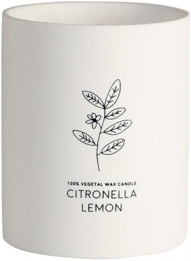 Vela vaso ceramico Citronella/Limon Anti-mosquitos