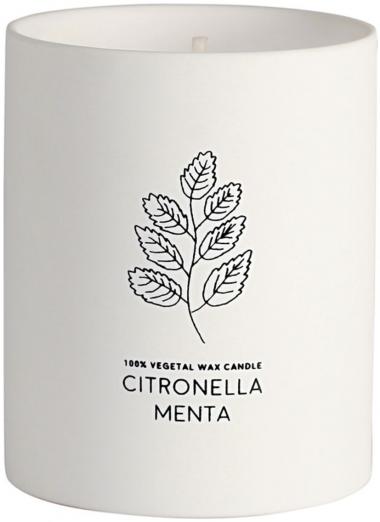Vela vaso ceramico Citronella/Menta Anti-mosquitos