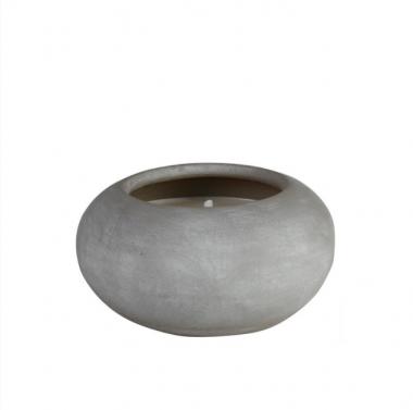 Vela Pot Mediana Citronela/Pepino Gris Anti-mosquito Exterior