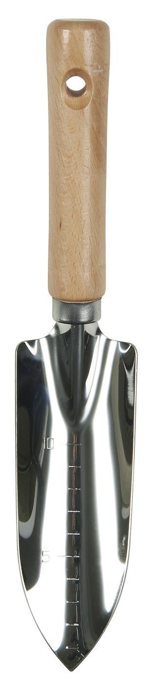 Pala Flecha acero inox con mango madera