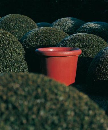 Lond Macetero Esmaltado Rojo en diferentes tamaños